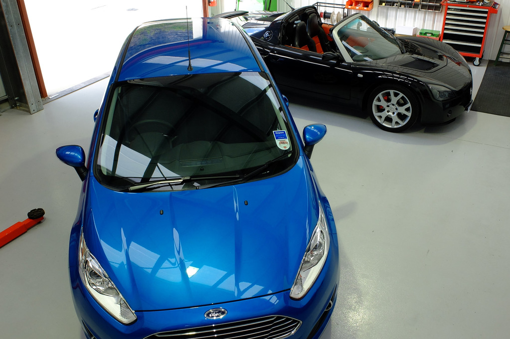 image of two cars in our workshop