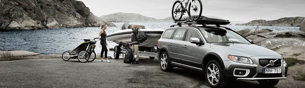 two people using Thule products