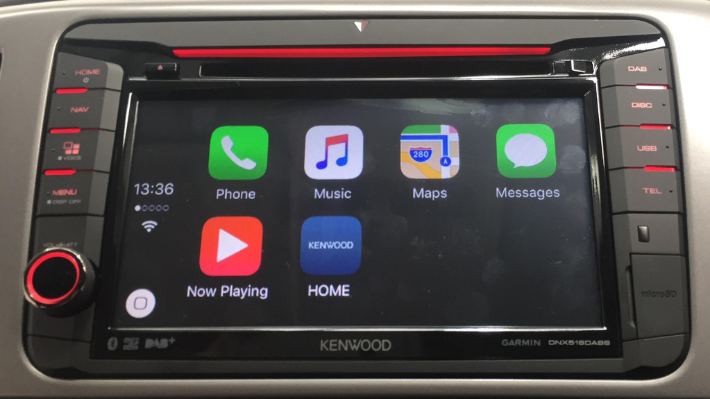 image of a Kenwood head unit