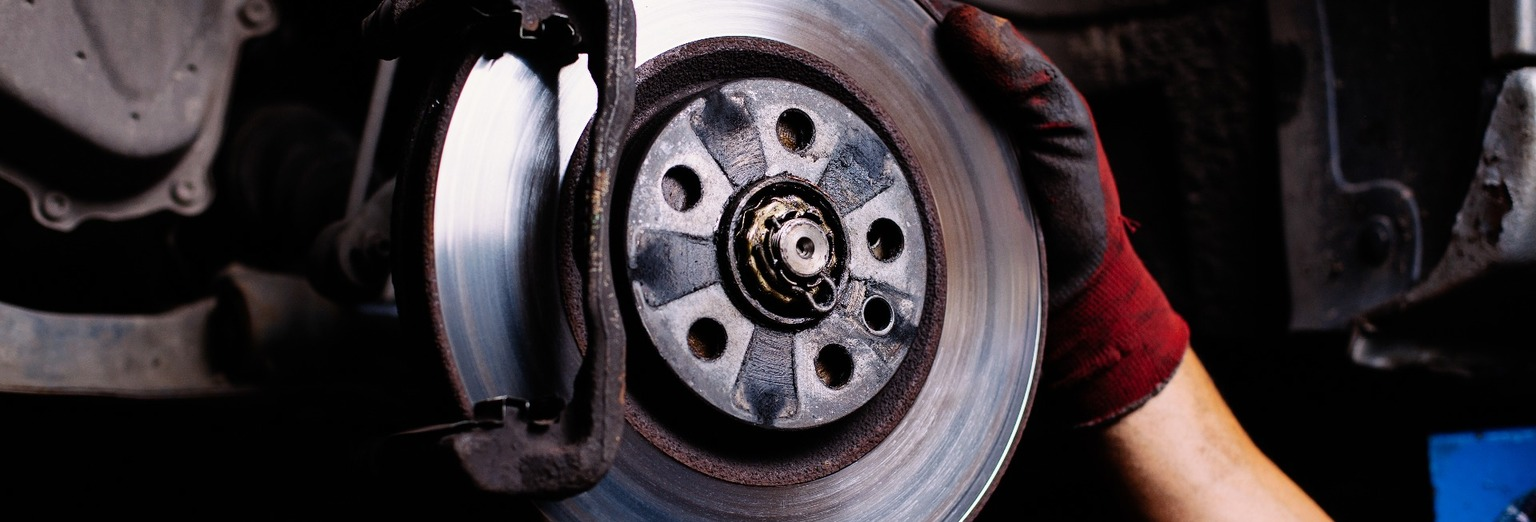 Image of a brake disc being fitted