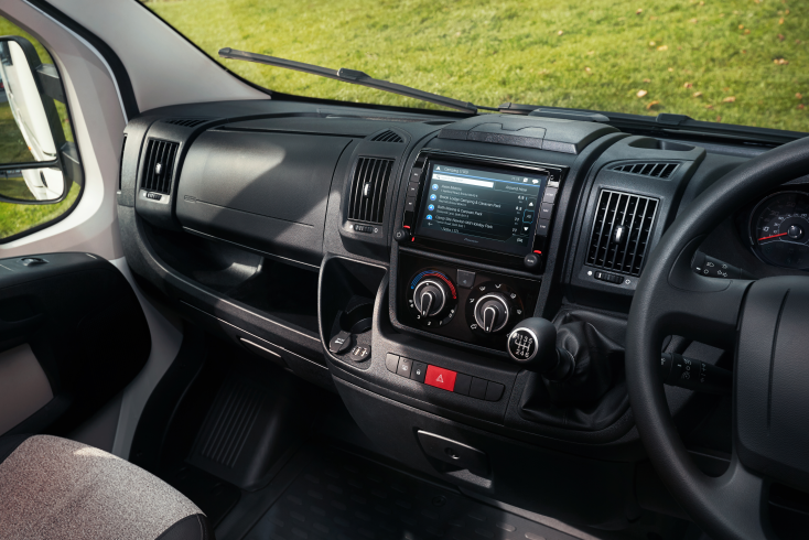 Image of the Fiat Ducato dashboard